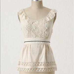 Anthropologie Floreat silk cotton lace blouse 2
